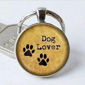 New Dog Lover Silver Tone Keychain.